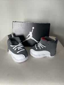 "New Jordan Retro 12 ""Cool Grey"" Cool Grey/white/team Orange (TD Size 2C) 2012"