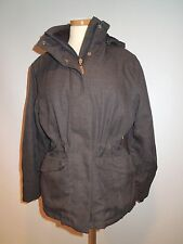 WOOLRICH WOMEN'S GRAY WINTER ,SKI JACKET INSULATED W/ HOOD SIZE M EUC