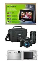 Insignia Digital Photo Frame LCD Display, Nikon Coolpix S9 & Canon T6i Cameras