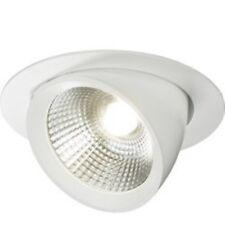 Knightsbridge 15 W Blanca Redonda Downlight LED luz empotrada de techo ajustable