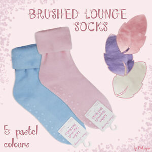 Ladies Warm Cosy Ankle Thermal Lounge Bed Socks Soft Brushed Inner Winter UK 4-8