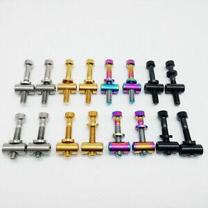 2Pcs M5x30mm M5X40mm Bike Seat Post Bolt Titanium Ti Bicycle Screws