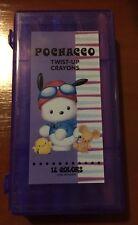 Pochacco Twist-up Crayons 12 Colors Vintage Sanrio 1999