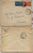 RISORGIMENTO 5L+10L(582+585)-Busta Napoli->Siracusa 7.2.1949