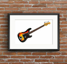 James Jamerson's 1962 Fender Precision Bass POSTER PRINT A1 size