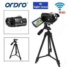 "Ordro D395 3.0""Touch Screen 1080P Digital Video Camera 18x Zoom w/Tripod Stand"