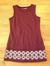 Athleta Hot Small When You're Not Fleece Lined Sleeveless Dress Maroon Pink