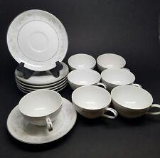 "LOT of 7 Camelot China Carrousel 1315 Japan 6.25"" Tea Cup & Saucer Plate"