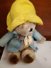 Vtg Paddington Bear Character Doll Hat Coat Tag London England Eden Toys 1975