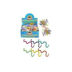 STRETCHY SNAKES Party Bag Stocking Filler Wild Jungle Animal Goody Loot Toy
