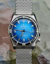 Evant DecoDiver SkyBlue Swiss Automatic Movement, Elegant and Very Rare!