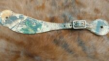 camaflauge spur straps/horse tack/rodeo/hunting/spurs/Made in U.S.A./camo/equine