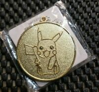 Vintage Nintendo Pokemon Medal Coin 2011 Japan Stamp Rally Golden Pikachu RARE