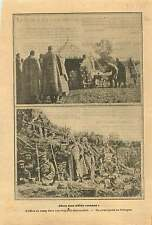 WWI Soldiers Camp Imperial Russia Army Cossacks Poland War 1915 ILLUSTRATION