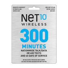 Net10 $30 Refill Card 300 Minutes / 60 Days (PIN Number Email Delivery)