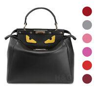 Genuine Leather Satchel Handbag Hobo Monster Shoulder Purse Peekaboo Tote Bag