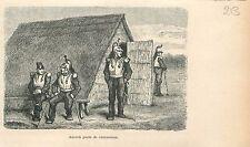 Soldats Cuirassiers Doornik Tournai Wallonie GRAVURE ANTIQUE OLD PRINT 1880