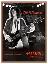 Tom Petersson *Large Poster* Cheap Trick Hamer Bass Guitars & Basses Promo ad