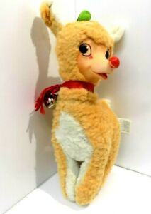 Vintage Gund Swedlin RUDOLPH The Red Nose Reindeer-Rubber Face-1939-Robert L May
