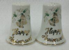 Lefton Happy Anniversary #1150 Salt and Pepper Shaker Set