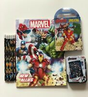 AVENGERS Coloring and Activity Books, Puzzle, 6 Pencils Marvel Comics NEW
