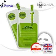 2Pcs MEDIHEAL Teatree Healing Solution Essential Mask (2 Sheets) UK Stock