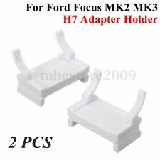 2x HID H7 Xenon Bulbs Adapter Holder Base For Ford Focus MK2 MK3 09-10 Low Beam