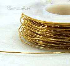 Brass Wire, 22 Gauge, Dead Soft, Round Brass Jewelry Wire, 20 Feet, 016