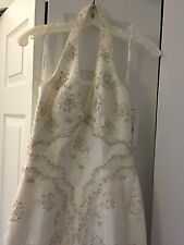 David's Bridal Sz6 Petite Ivory Lace Wedding Gown, Trumpet, NEW WITH TAGS IN BAG