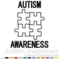 2 COLOR AUTISM AWARENESS PUZZLE HEART CAR VINYL DECAL STICKER AW-06