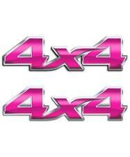 Pink 4x4 Truck Decal Sticker Set