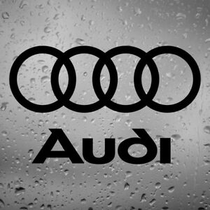 x2 Audi Rings + Logo NEW Replacement Stickers Car Decal LUXURY Vinyl S1 S3 S4