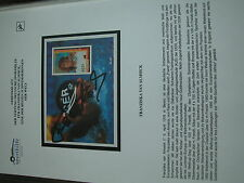 original Autogramm auf Block GUYANA !!  VIP WM Schwimmen FRanziska van ALMSICK a