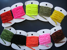 6 Packs/Colors Chenille For Fly Tying Original -Rayon Egg Yarn -