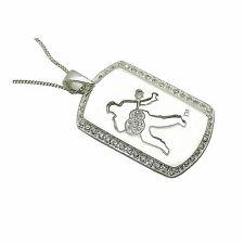 Elvis Presley 'Silver Double Dog Tag' Memorabillia Pendant