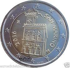 Pièce 2 euros annuelle SAINT MARIN 2016 - Palais Gouvernemental - UNC