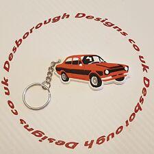 MK1 Escort Key Ring Orange  & Black Key Ring + Fridge Magnet Twin Pack