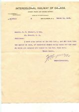 Antique Letterhead ICR Intercolonial Railway New Glasgow Nova Scotia 1908
