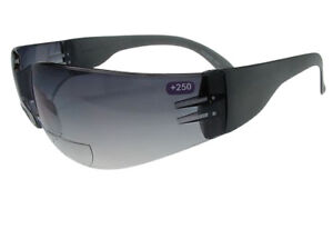Bifocal High Impact Wrap Side Protective Safety Sunglasses 100% UV Cycling