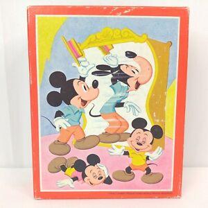 Vintage Whitman Disney Puzzle Mickey Mouse Nephews Frame Tray 99 Pieces A7330-2