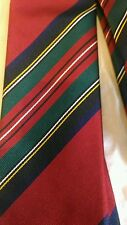 Drakes London red club stripe silk tie brand new  $125