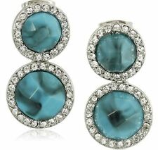 Karen Kane C009024WTQ Ever Bloom Eternity Turquoise Resin Stone Drop Earring $89