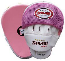 Hook & Jab FOCUS MITT fatta di pelle sintetica Parastinchi per allenamenti colore rosa e bianco