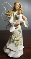 Angel Accents Figurine Tender Love Mom Baby New Mother Son Resin Collectible