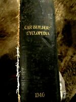 1940  RAILROAD CARS BUILDER'S CYCLOPEDIA. With Blueprint drawings ILLUSTRATIONS