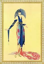 "Original Vintage Erte Art Deco Print ""The Vamps"" Fashion Book Plate"