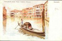 Antique printed postcard Venezia Canal Grande Palazzi Foscari Giustinian