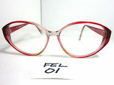 Vintage Soft Cat Eye Eyeglasses Frame Elite Eyewear #Karen Cherry Red (FEL-01)