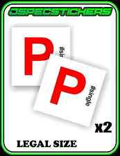 #SINGLE RED P PLATE FUNNY STICKER NON MAGNETIC LEGAL SIZE LICENCE REGO x2 CAR
