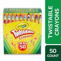Crayola Twistables Crayons Coloring Set, Age 3+ - 50 Count 50 Ct Mini
